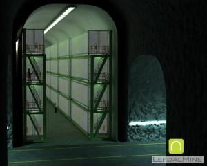 Lefdal - część podziemna