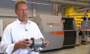 Metalowe części samolotowe drukowane w technologii 3D w Hamburgu
